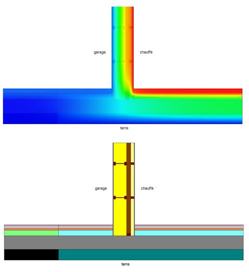 calcul d taill de ponts thermiques 1nergie s a. Black Bedroom Furniture Sets. Home Design Ideas