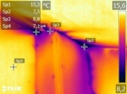 Thermographie Leckage